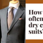 How often to dry clean suits