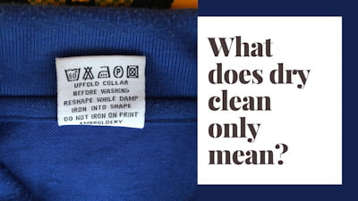 What does dry clean only mean